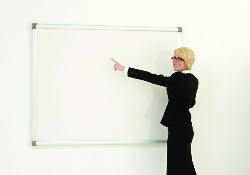 Projection Dry Wipe Board 1200 x 1200 mm Magnetic Notice Boards