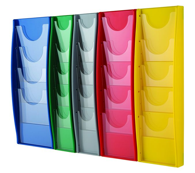 Multi Packet Disposable 5 Packet A5 Aqua Leaflet Dispensers