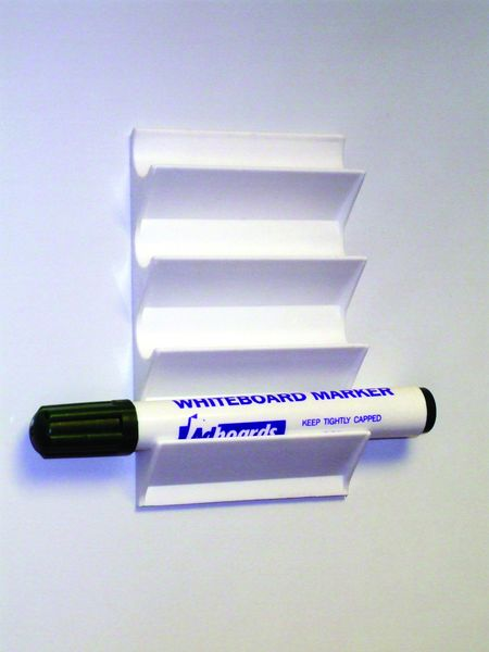 4 Pen Magnetic White Plastic Holder