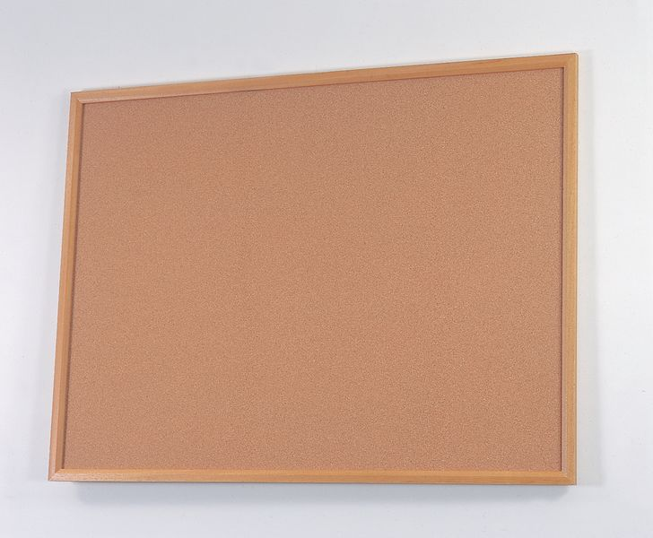 Wood Framed Cork Notice Board 900 x 600 mm