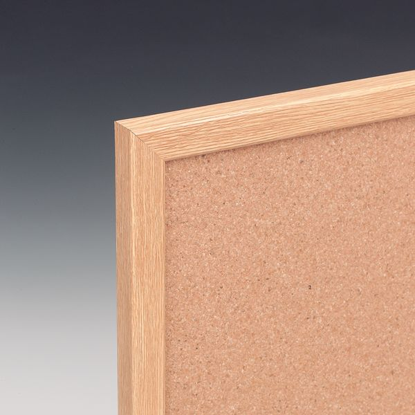 Eco Cork Notice Board Ltoak Frame 1200 x 900 mm  Notice
