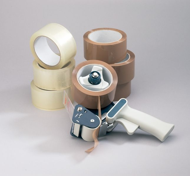 Tape Dispenser + 12 Rolls Clear Tape Dispensers