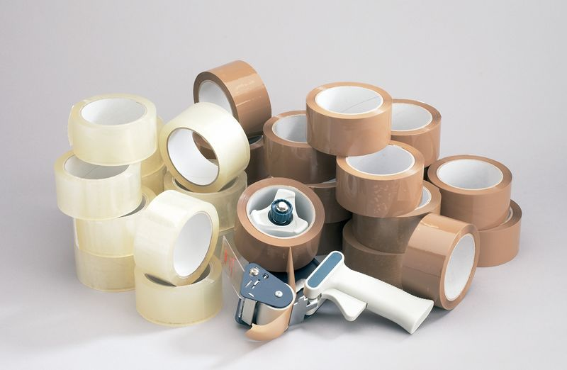 Tape Dispenser + 36 Rolls Clear Tape Dispensers