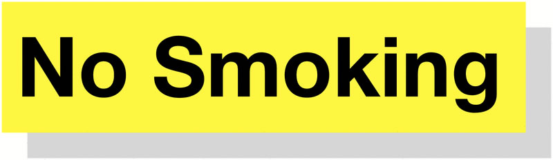 Smoking Area 50 x 200 mm Yellow / Black Engraved