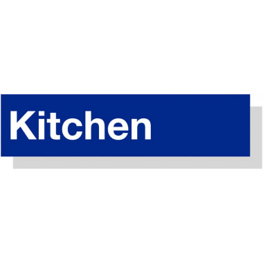50 x 200 mm White On Blue Kitchen