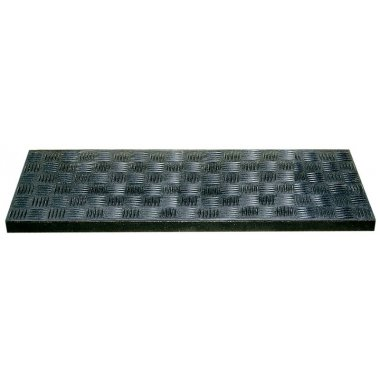 Stair Nosing Rubber Ribbed Black For Stairs
