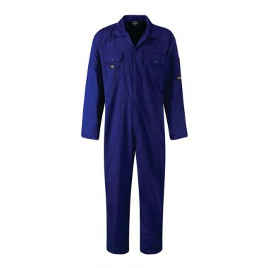 Stud Front Coverall Long Size Large Navy Coverall