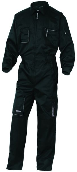 Mach 2 Polycotton Coverall Black - Size Small Coverall