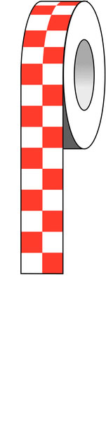 Red / White Checks 3 Inch x 54 Inch