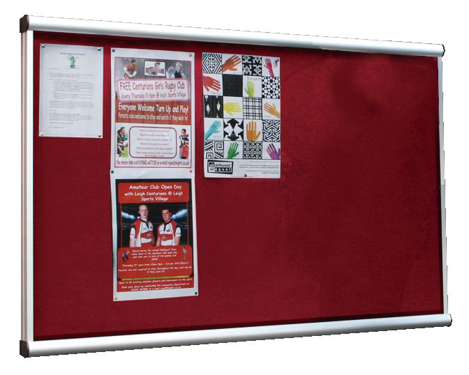Illuminated Extension Showcase Red 18 x Size A4Show Cases