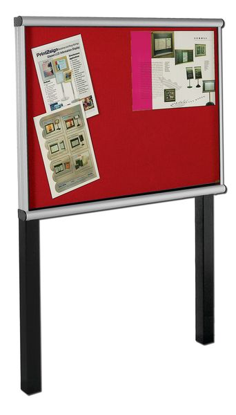Post Mount Extension Showcase Red 8 x Size A4Show Cases