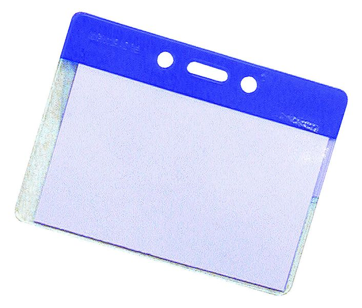 Badge Pocket Holders Blue Pack of 50