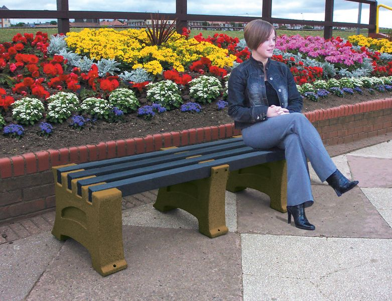 Heavy Duty 3 Person Bench Sandstone