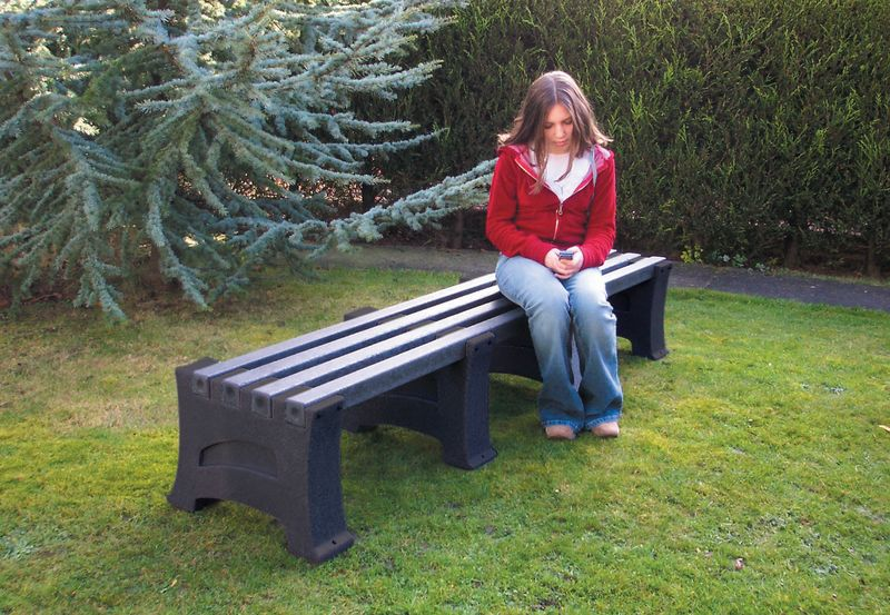 Heavy Duty 4 Person Bench Dark Millstone