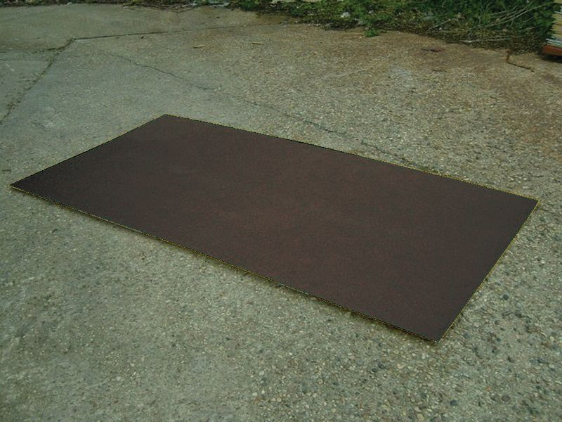Flat Decking Sheet 1200 x 1200 mm Black Decking