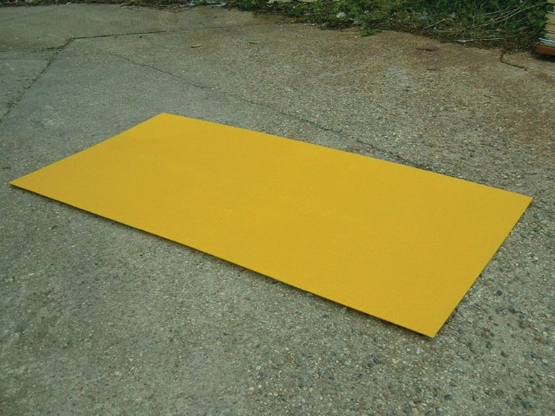 Flat Decking Sheet 800 x 1200mm Yellow Low Decking