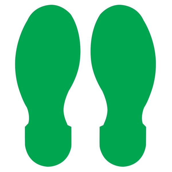 10 Inch x 3.5 Inch Green Footprint 10 Pack