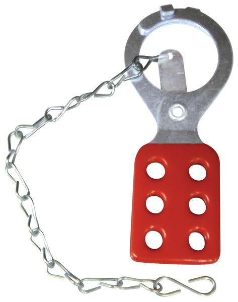 1.5 Inch Red Hasp With 8 Inch Chain