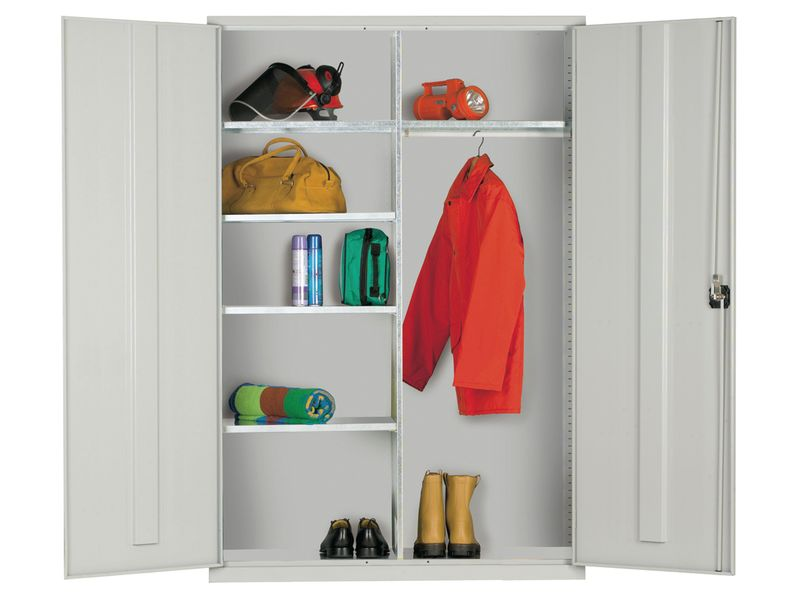 Clothing And Equipment Cabinet Blue Doors Cabinet