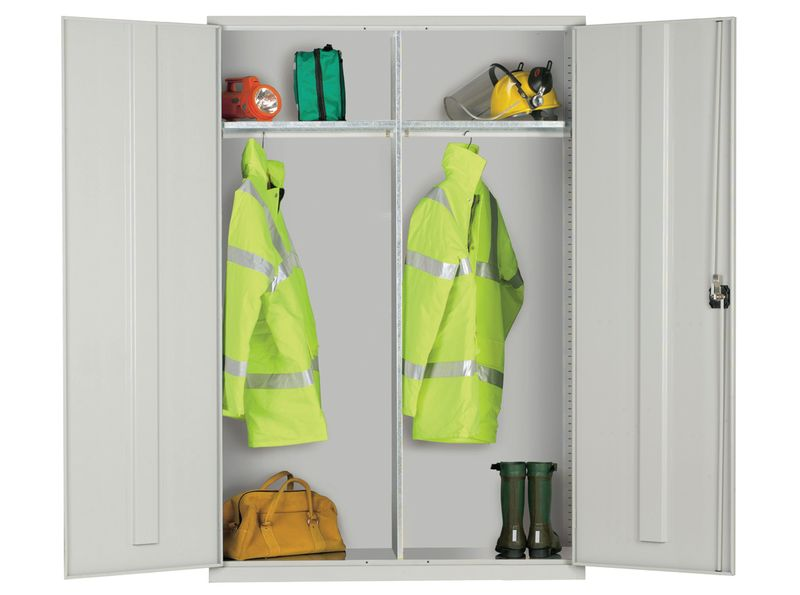 Clothing And Equipment Cabinet Grey Doors Cabinet