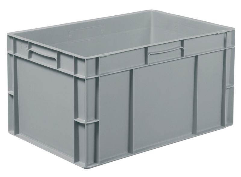 Solid Plastic Stackable Container 61 Litre Storage Containers