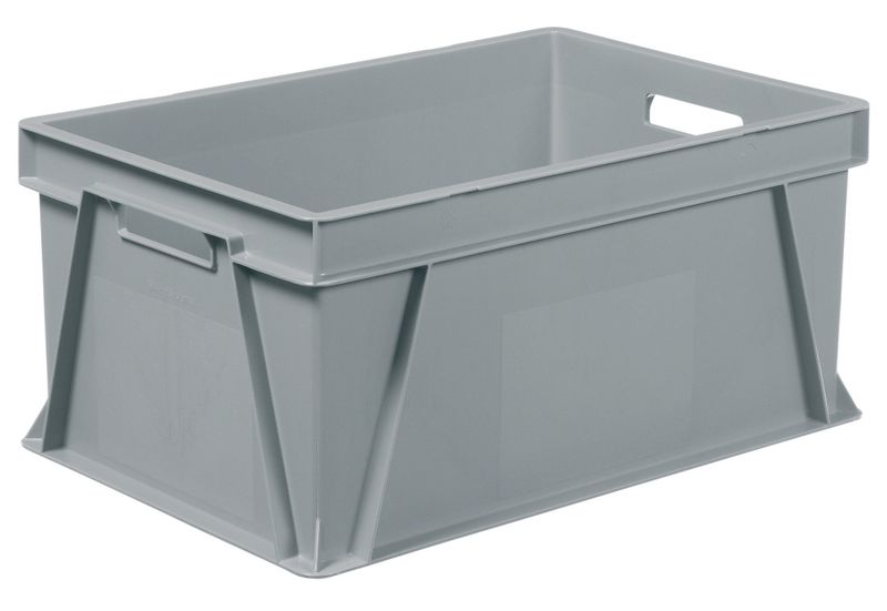 Solid Plastic Stackable Container 55 Litre Storage Containers