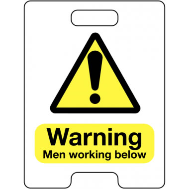 600 x 450 mm Warning Men Working Below Safety Signs