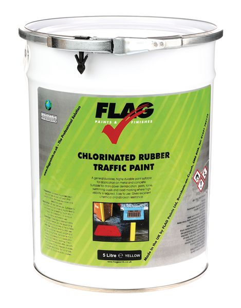 Chlorinated Traffic Rubber Paint 5 Litre Yellow  Paint