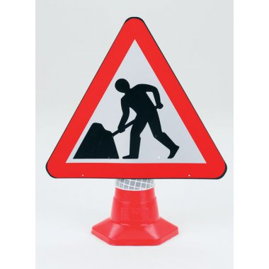 Traffic Cone Sign - 600 mm Men Working Road Signs