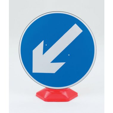 Traffic Cone Sign - 600 mm Keep Left Road Signs