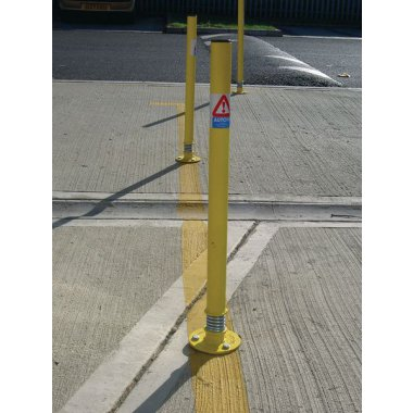 Sprung Boundary Post Galvanised Ladders