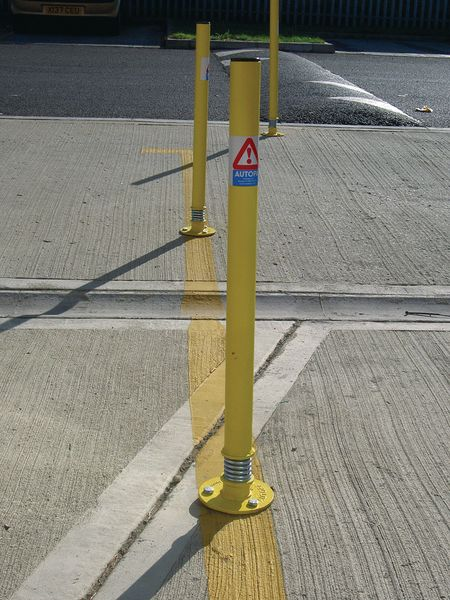 Sprung Boundary Post Yellow Powder Coated Ladders