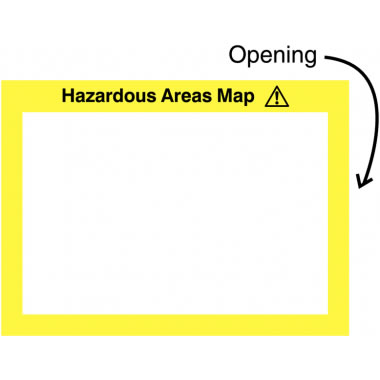 240 x 327 mm Hazardous Areas Map