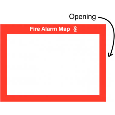 240 x 327 mm Fire Alarm Mapalarms