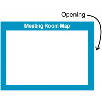 240 x 327 mm Meeting Room Map