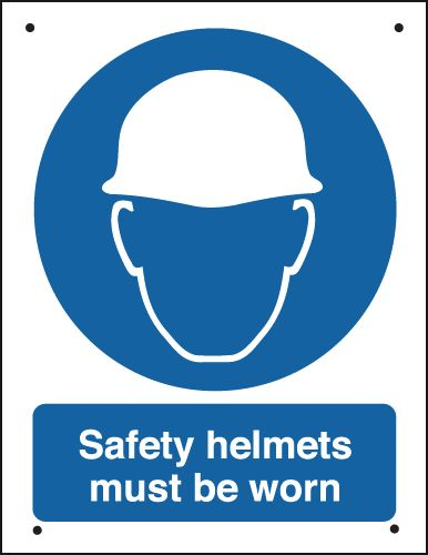 400 x 300 mm Vr Safety Helmets Must Be Worn Safety Signs