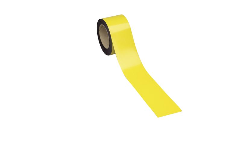 Magnetic Easy Wipe Racking Strip Yellow  Racking Strips