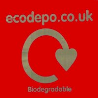 Biodegradable Bags Red Pack of 100 Bags