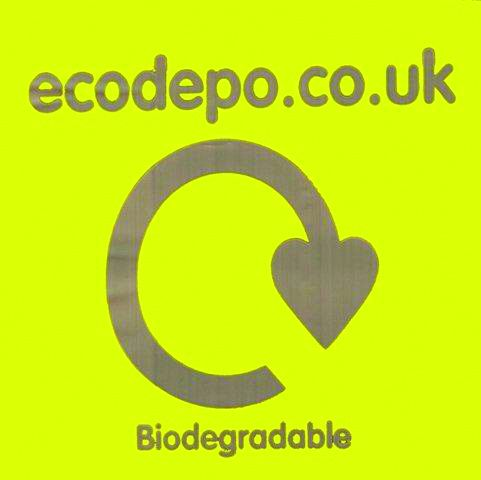 Biodegradable Bags Yellow Low Pack of 100 Bags