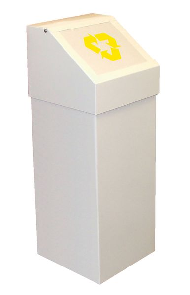 Recycling Bin With Yellow Low Symbol Bins