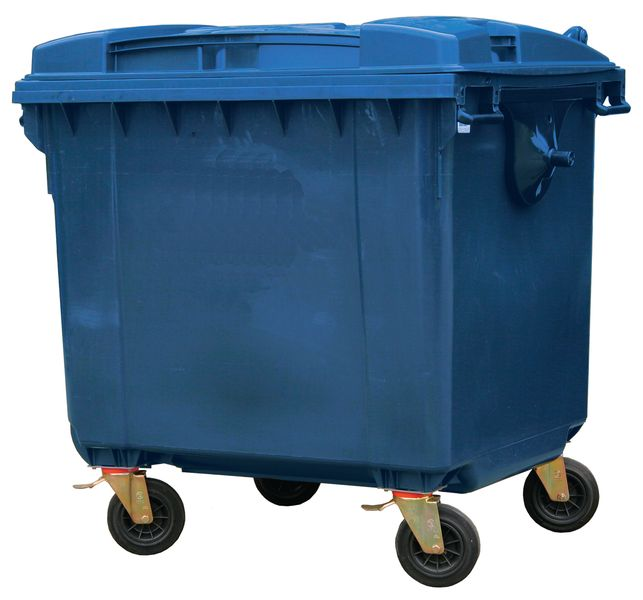Wheeled Waste Container 660 Litre Blue Storage Containers