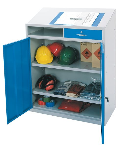 Single Drawer Work Station Blue Doors Workstations