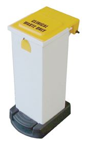 65 Litre Plastic Sack Holder Yellow Low Lid  Sackholders