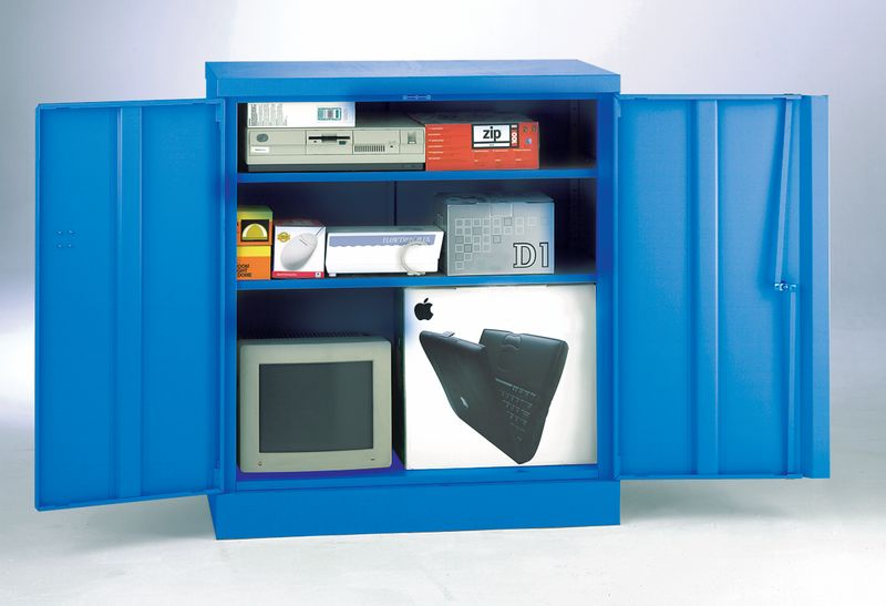 Security Cupboard 1016 x 915 x 470 Blue
