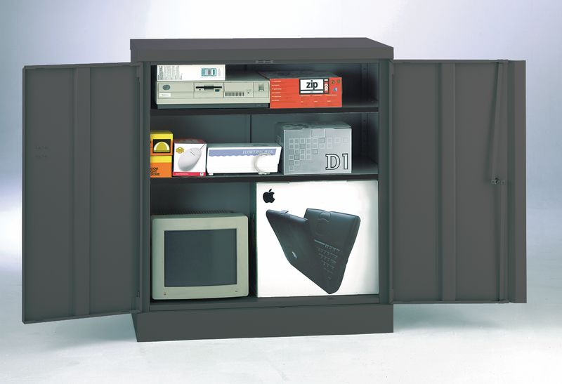 Security Cupboard 1016 x 915 x 470 Dark Grey