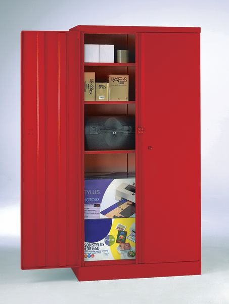 Security Cupboard 1829 x 915 x 470 Red