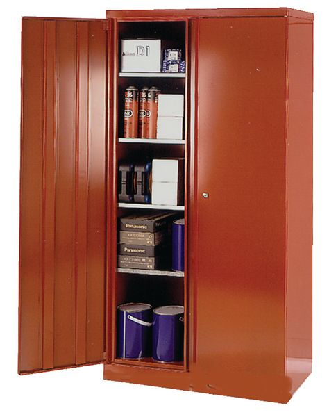 Solid Colour Cupboard Red