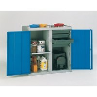 Tool Cabinet 2 Drawer And 4 Shelf Blue Cabinet