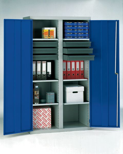 Tool Cabinet 14 Drawer And 2 Shelf Blue Cabinet