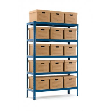 Industrial Shelving + 10 Document Boxes Shelving